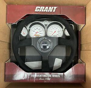 NEW Grant 8541 Classic Series SUEDE Steering Wheel; 13.5 in Diameter