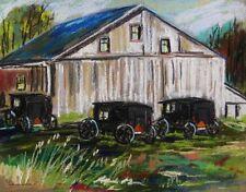 ORIGINAL Amish Landscape Pastel Painting John  Williams art JMW Impressionism