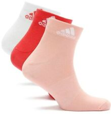 3 Paar Adidas Damen Logo Socken Laufsocken Tennis Sport Socks weiß rot rosa