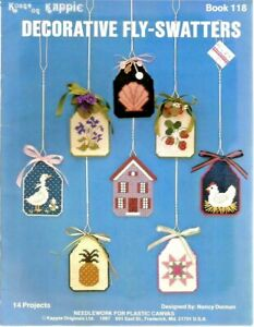 DECORATIVE FLY SWATTERS Plastic Canvas 1987 Kappie Pattern Booklet 118