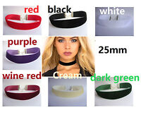 """A New 25mm Flat Velvet Cord 13"""" Choker Necklace Wiccan Pagan Gothic, Wedding"""