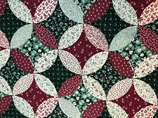 "Cranston cotton fabric cheater Cranberry Green Circle 3+ yds x 43""W"