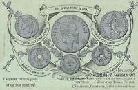 EARLY 1900's VINTAGE EUROPEAN COINS inc BELGIUM & FRANCE POSTCARD UNUSED