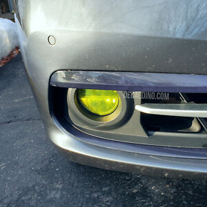 Fits 2015 + BMW Fog Light Tint Overlay - Yellow Smoke LED M3 M4 F30 3 Series