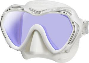 Tusa Paragon S Mask Scuba Diving, FreeDiving, Snorkeling White Skirt/White Frame