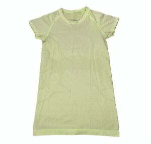 Lululemon Run Swiftly Tech Short Sleeve Shirt Size 4 Clear Mint Neon *Stain