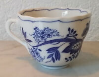 alte Tasse Kaffeetasse Teetasse Hutschenreuther Zwiebelmuster indisch blau