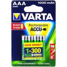 Varta Power Akku HR03 LR03 Micro AAA NiMH 4er Blister 1000mAh 1,2V 1000mAh/1,2Wh