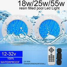 12v 55w Resin Filled Underwater Swimming Pool LED Light RGB Remote Controller