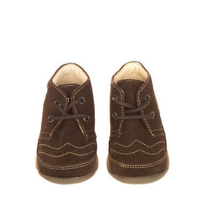 FALCOTTO BY NATURINO Leather Chukka Boots Size 19 UK 3 US 4 Brown Lace Up
