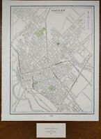 "Vintage 1900 DALLAS TEXAS Map 11""x14"" ~ Old Antique Original PRESTON HOLLOW"