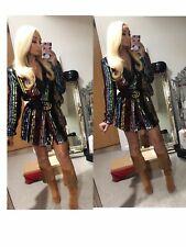 Zara Woman Studio Sequin Blazer Jacket Dress Rare Sold Out Eur S Limited Ed