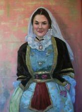"Spanish Woman (original oil painting 24"" x 30"")"