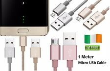 Braided Micro USB FAST Data Charger Cable Lead For S5 S6 S7 Samsung Galaxy Phone