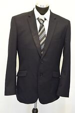 MS600 Ted Baker elevate Uomo Navy Suit Blazer petto 40S