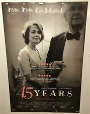 Original Movie Poster For 45 Years Double Sided 27x40