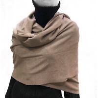 Cashmere Company Sciarpa Donna Beige Scialle Coprispalle Lana Cashmere Stola