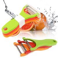 3Pcs Gadgets Serrated Cutter Fruit Slicer Kitchen Tools Vegetable Peeler