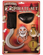 Pirate Buccaneer Costume Dress Up Halloween Playset Accessory Kit
