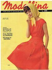 RIVISTA FEMMINILE DI MODA MODELLINA N° 67 DEL 1962