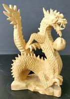 DRAGON Vintage Handcrafted Wood Hand Carved Mid-Century Modern Carving Folk Art