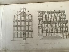 Ghent - Stadthaus - Antique Print 1835 -  Hope's Architectural drawings
