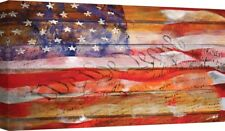 Flag Fine Art Giclee Print Stretched Canvas Rustic Old Glory Patriotic 24x40