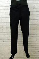 Pantalone Uomo Moschino Taglia 48 Pants Man Classico Elastico Jeans Blu Lana