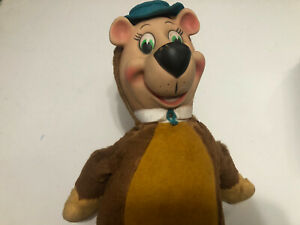 "Vintage 1959 Knickerbocker Huckleberry Hound / Yogi Bear Plush 18"""