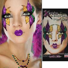 Xotic Eyes Mardi Gras Face Mask & Lips Glitter Reusable Sparkle Party Eye Makeup
