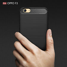4Colors Shockproof Heavy Duty Rugged Carbon Fiber Case Cover For Oppo A77 / F3