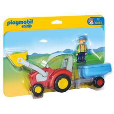 Playmobil 123 tracteur avec remorque 6964 neuf