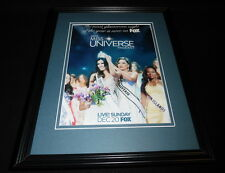 2015 Miss Universe Pageant Fox Framed 11x14 ORIGINAL Advertisement