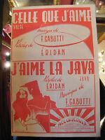 Partitura Uno que J'aime Gabutti J'aime la Java Eridan