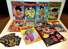 9 Dragonball Z Comic Books Lot & Pojo's Total Dragon ball Z Book +Trading Cards
