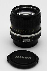 Nikon Nikkor Ai 85mm f/2 portrait lens Near Mint