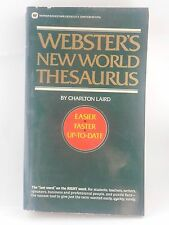 Webster's New World Thesaurus by Charlton Laird 1987 Paperback Reference Good