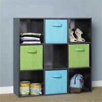 Cubby Basket Drawers Foldable Storage Bins Half Cube Boxes Fabric Organizer YD
