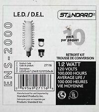 Standard Products Inc. LED 120V 1.2W E12 Red Light  3 pcs. C/W adapter