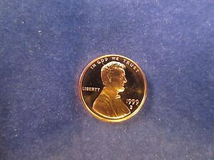 One 1999-S Lincoln Cent Deep Cameo Mirror Proof RED Upper Grading Ranges