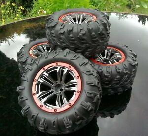 Xinlehong 9125 1/10 12mm Hex Wheels and Tires (x4) UK Seller