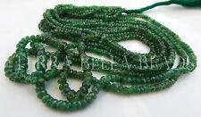 """14"""" strand TSAVORITE GARNET faceted gem stone rondelle beads 2mm - 3mm green"""