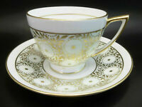MIntons English Tea Cup Saucer Set Bone China Light Aqua Green