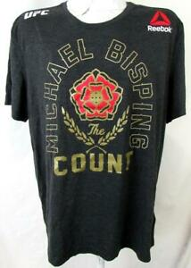 """UFC Mens XL Short Sleeve Screened Michael """"THE COUNT"""" Bisping T-shirt UFC 114"""