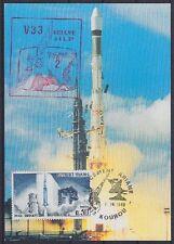 Frankreich Raumfahrt Space Maximumkarte Ariane TV-SAT 2 mit SST 1989