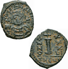 Byzanz Justinianus I. Æ Decanummium Antiochia Theoupolis 562/563 Kreuz Sear 239
