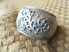 SILPADA .925 Sterling Silver WIDE CUFF BANGLE BRACELET, FILIGREE SCROLLS  B1866