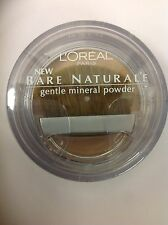 L'Oreal Bare Naturale Gentle Mineral Face Powder Buff Beige #418 New.