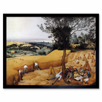 Pieter Bruegel Elder Harvesters Painting Wall Art Print Framed 12x16