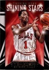 2014-15 Hoops Shining Stars Chicago Bulls Basketball Card #6 Derrick Rose